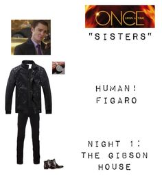 """OUAT - S5E19: ""Sisters"" - Human!Figaro"" by nerdbucket ❤ liked on Polyvore featuring Armando Cabral, Versace, John Varvatos, Once Upon a Time, men's fashion and menswear"