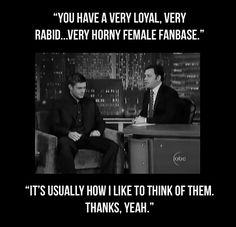 Jensen Ackles, Supernatural fan girls