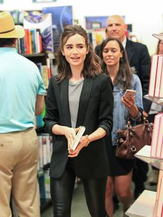 Lily Collins is seen signing for 'Unfiltered No Shame, No Regrets, Just Me' at Barnes & Noble at The Grove on March 11, 2017.