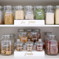 New kitchen pantry organization dry goods ideas
