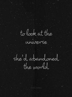 she abandoned the world