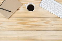 Top view office table by Pushish Images on @creativemarket