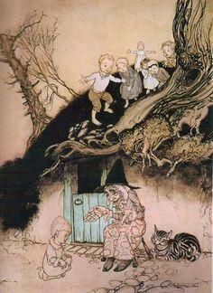 どこか怖ろしい謎を含んだ『マザー・グース』のアーサー・ラッカムの挿絵