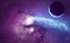 Purple Space Wallpaper Free Download