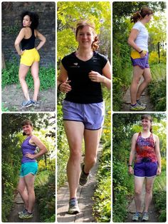 A running short designed for lightweight wovens or mesh fabrics with three optional pockets, curved seamlines, bound hem, and elastic waist. An optional runderw Sewing Blogs, Pdf Sewing Patterns, Clothing Patterns, Fibre And Fabric, Braids With Weave, T Shirt Diy, Mesh Fabric, Running Shorts, Pattern Making