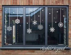 Snowflake Christmas Window Wall Stickers, Christmas Decor, Stickers, A Christmas Decals, Christmas Window Decorations, Christmas Window Display, Christmas Snowflakes, Holiday Decor, Christmas Windows, Christmas Night, Elegant Christmas, Christmas Diy