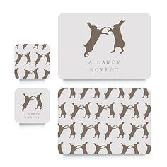 Hare Coaster Or Placemat - easter decorations
