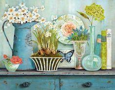 flores en la cocina