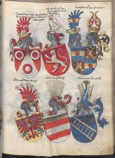 Grünenberg, Konrad: Das Wappenbuch Conrads von Grünenberg, Ritters und Bürgers zu Constanz um 1480 Cgm 145 Folio 206