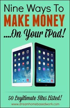If you have been trying to figure out how you can make money with your Ipad, then this is what you have been waiting for. Here's a list of 9 ways you can make money working from home on your iPad.