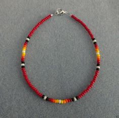 Red Sunburst Bead Anklet,Ankle Bracelet Native American in Jewelry & Watches, Ethnic, Regional & Tribal, Native American Handmade Wire Jewelry, Handmade Bracelets, Beaded Bracelets, Embroidery Bracelets, Handmade Beads, Silver Bracelets, Silver Jewelry, 925 Silver, Sterling Silver