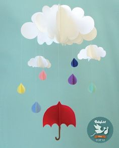 Rain Baby Mobile by Gosh and Golly @BabyList Baby Registry Baby Registry