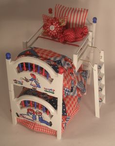 Raggedy Ann amd Andy Bunkbed set od 4 by Twinkling Treasures