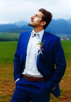 Costumes de mariés 2017 : Des looks superbes pour un marié élégant et sexy le Jour J! Image: 3 Blue Suit Wedding, Wedding Men, Wedding Suits, Royal Blue Suit, Blue Suit Men, Costume Bleu Royal, Blazer Suit, Suit Jacket, Mens Fashion