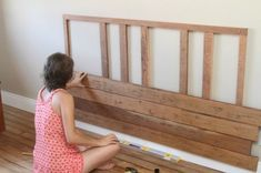 Wondrous Wood Working For Beginners Ideas Homemade Headboards, Headboards For Beds, Diy Furniture Projects, Pallet Furniture, Backboards For Beds, Diy Bett, Wood Headboard, Furniture Inspiration, Home Bedroom