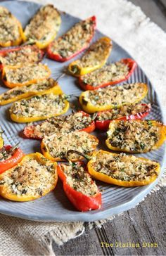 Stuffed Mini Peppers - The Italian Dish