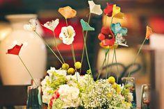 Eu Amo Artesanato: Arranjo de flor de papel