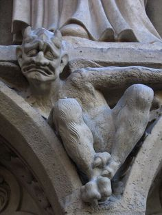 A Grotesque from the Notre Dame Cathedral, Paris.