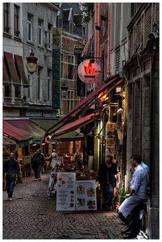 A little nightlife in Brussels, Belgium