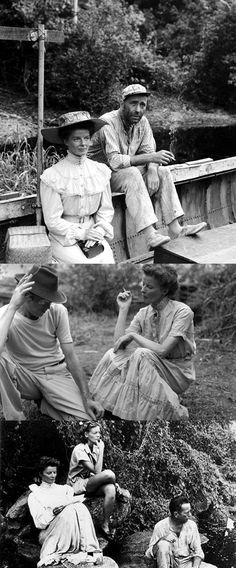The African Queen de John Huston John Huston, Great Movies, Old Hollywood, African, Glamour, Hairstyles, Queen, Stars, Film