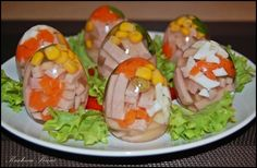 Jajka-galarety z szynka - super pomysl!
