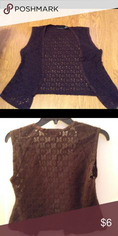 Beautiful brown vest Beautiful brown vest, worn a few times over a tank in the summer. In need of a new home.  *made in USA Northern Mariana Islands of imported materials. The Limited Other