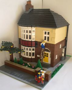Based on British semi-detached homes from the 50's.  Very cool interior!  Also love the gate and garden in front.