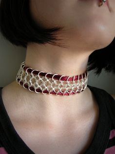 Neck-Lace bloody silver choker by AIMAccessoirDesign