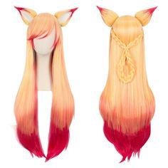 Ahri Soraka LoL League of Legends Star Guardian Ahri Soraka Cosplay Wigs Cosplay Hair, Cosplay Outfits, Anime Outfits, Cosplay Wigs, Cosplay Costumes, Pelo Lolita, Lolita Hair, Kawaii Hairstyles, Pretty Hairstyles