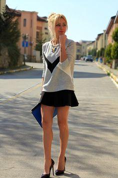 Sweater, skirt