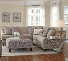Franklin Julienne Sectional Sofa with Four Seats - Miskelly Furniture - Sectional Sofas Jackson, Mississippi