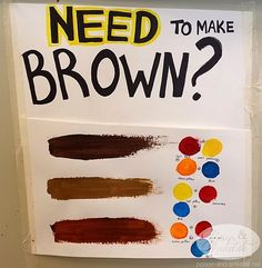 How to make brown paint. This is a life saver. Art Tutorials, Drawing Tutorials, Drawing Tips, Canvas Painting Tutorials, Acrylic Painting Canvas, Painting Tips, How To Make Brown, Brown Paint, Poses References
