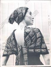 1957 Rome Italy laura Aponte Sequin Sole & Cap Twinkle Merrily Press Photo