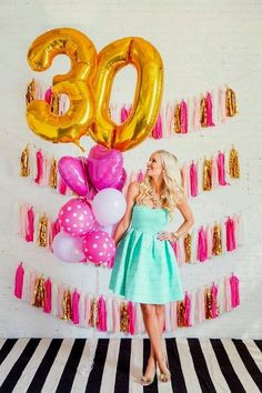 Is there anything more fun than planning a birthday party? Will your party be simple or elaborate? Adult Birthday Party, 30th Birthday Parties, 20th Birthday, Girl Birthday, Women Birthday, Birthday Ideas, 30th Party, Diy Ballon, Birthday Pictures