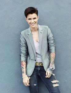 Ruby Rose as Stella Carlin - Androgynous