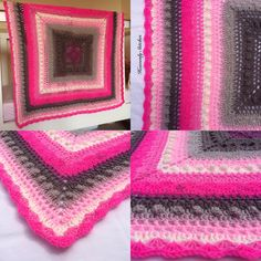 Your place to buy and sell all things handmade Baby Blanket Crochet, Crochet Baby, Crochet Round, Round Rugs, Cot, Girl Nursery, Pink Grey, Heavenly, Stitches