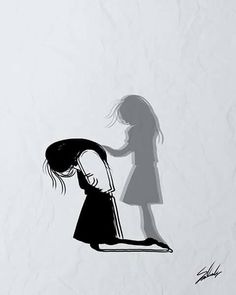 Sad Art Alone Trendy Ideas Anime Art, Emotional Art, Sketches, Art Drawings, Drawings, Deep Art, Illustration Art, Art, Dark Art Illustrations