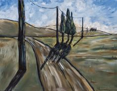 """Traveling Down Country"", BethCollinsPaints.com, 28""x36"", oil on stretched canvas. $500"
