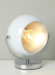 White Mini Photography Table Lamp - essentials  - Lighting