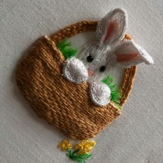 Stumpwork Embroidery Bunny - Easter 2010 by Cross Duck, via Flickr