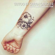 Custom Designed Petunia Line art Detailed Dotwork Designed Jewelry Elegant Black ink Tattoo by Sarah Gaugler at Snow Tattoo New York NYC.jpg