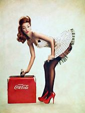 Phlearn Cola pin up art for sale at Toperfect gallery. Buy the Phlearn Cola pin up oil painting in Factory Price. Pin Up Vintage, Coca Cola Vintage, Retro Pin Up, Retro Vintage, Vintage Metal Signs, 50s Pin Up, Dress Vintage, Retro Style, Vintage Style