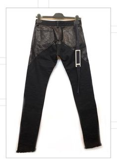 """Magnificent Jeans """"Rick Owens"""", Leather and Denim, @ 286 USD on ebay.com"""