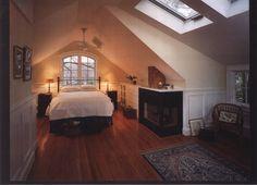 8 Persistent Cool Tips: Attic Remodel How To Build attic design living room. Attic Master Bedroom, Attic Bedroom Designs, Attic Bedrooms, Attic Design, Upstairs Bedroom, Attic Bathroom, Loft Design, Bed Design, Design Model