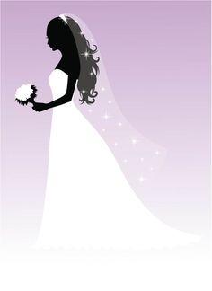 bride silhouette free graphic google search