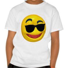 Smiley Emoticon Shades Tshirts