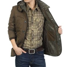 Men's Winter Thickened Warm Cotton-padded Hooded Coat - Gchoic.com