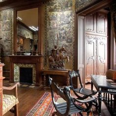 Crazy time-capsule chateau opened as museum and ode to a gentleman's pursuits, circa 1905. Coyly fascinating.