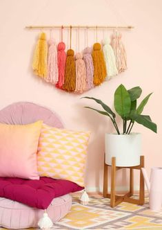 DIY Giant Tassel Wall Hanging - A Beautiful Mess