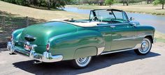 American Cars since 1935 — 1951 Chevrolet Deluxe Styleline Convertible. Chevy Classic, Old Classic Cars, Classic Trucks, Toyota, Chevrolet Trucks, Chevrolet Impala, Subaru, Vintage Cars, Antique Cars